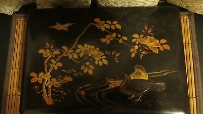 Vintage  Oriental Lacquered Hand Painted Box