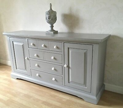 Painted Large Solid Wood Sideboard