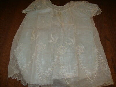 #2 Antique Blue Silk & Hand Made Lace Childs Dress (Doll?)