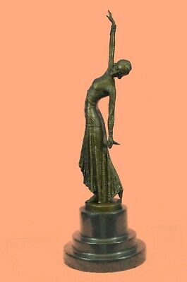 Signed Egyptian Dancer By Chiparus Real Lost Wax Bronze Sculpture Statue Art