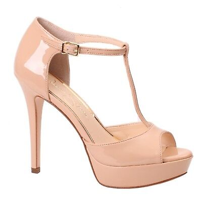 f45228a379 Women's Jessica Simpson BANSI Sand Dune BuckleT-Strap Heeled Platform Pump  Shoes