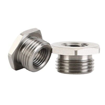 Stainless Adapters Reduce 02 O2 Sensor Ports Bungs 18mm to 12mm For Harley Plug