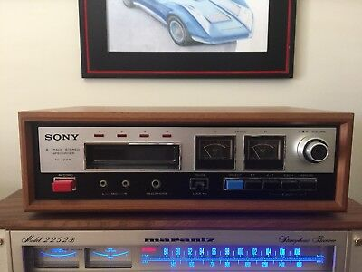 1972 Sony 8-Track Stereo Record Deck - real wood Professional Restoration