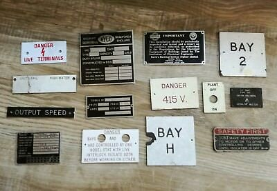 Selections Of Industrial Plaques/plates