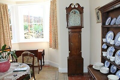 8 day Moonphase Longcase Grandfather Clock   John Starie of Leominster