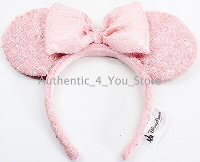 NEW Disney Parks Authentic Millennial Pink Minnie Mouse Ears Headband - IN HAND