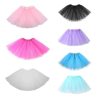 Girls Kids Baby Dance Fluffy Tutu Skirt Pettiskirt Ballet Dress Up Fancy Costume