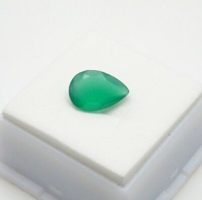 Beautiful 13x9mm Pear Shape - Dark Green Chalcedony - 2.90ct - Loose Gemstone