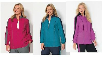 Lot of 8 Womens Athletic Jackets by Full Beauty Sport Plus Sizes M, L, 1X