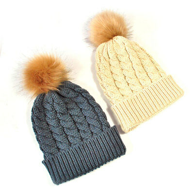 Beanie Hats Soft Knitted 2pcs Photo Prop Autumn Winter Baby and Mom Warm