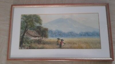 vintage Chinese water colour signed