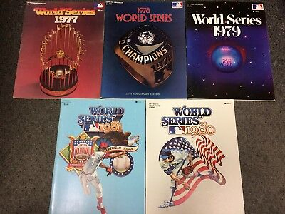 1977 1978 1979 1980 1981 World Series Programs Lot Great Shape Yankees Pirates