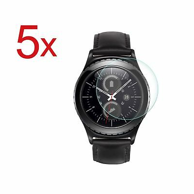 5x Tempered Glass Screen Protector For Samsung Gear S2 BT SM-R720