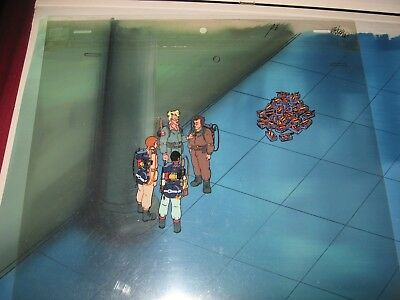 The Real Ghostbusters Original Production Cel & Original Production Background