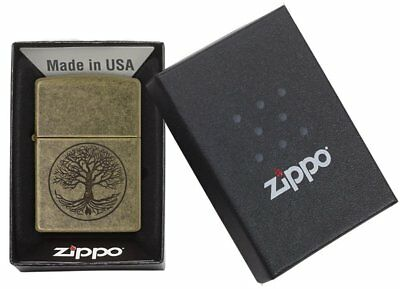Zippo Antique Brass Eternal Tree of Life Lighter 29149 NEW IN BOX