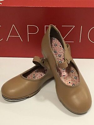 Capezio Jr Tyette Brown Tap Shoes 13 M Girls Dance