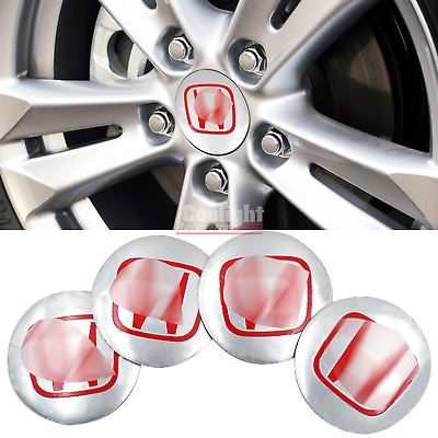 4PCS 56mm/2.2'' For Honda ACCORD CRV PILOT CIVIC Wheel Center Cap Cover Sticker