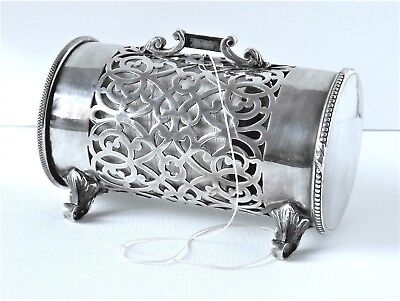 Antique Elkington Silver Plate String Holder/dispenser-The Property Of J. Lyons.