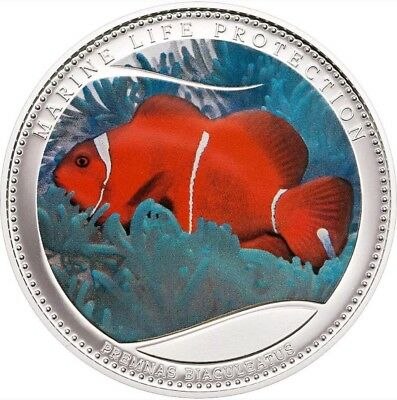 2011 25g PROOF Silver $5 MARINE LIFE PROTECTION - ANEMONEFISH Coin..