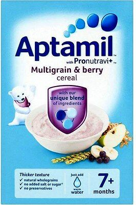 Aptamil with Pronutravi + Multigrain & Berry Cereal 7mth+ (2x200g)