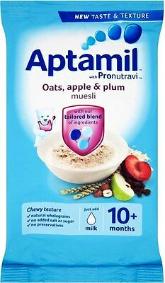 Aptamil with Pronutravi + Oats, Apple & Plum Muesli 10mth+ (2x275g)