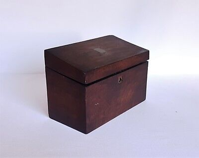 Antique Vintage Walnut Box, Antique Wooden Tea Caddy, Sewing Box, Jewelry Box