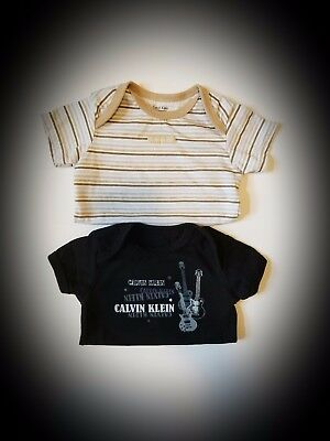 AMAZING DEAL! Lot of two Calvin Klein baby bodysuits