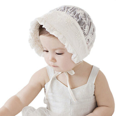Children Beanie Hat Baby Lace Hat Elastic Cloth White Headwrap Gifts Princess