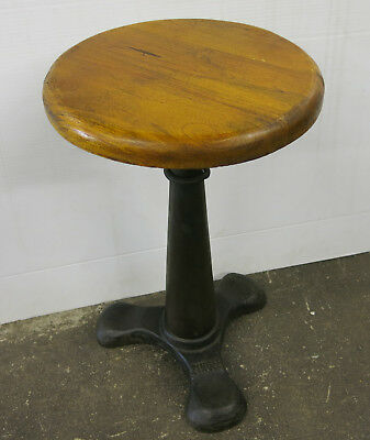 Industrial Adjustable Dining to Bar Height Cast Iron Base Singer Stool (IND012)