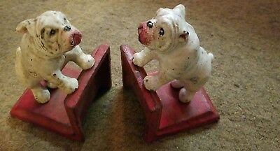Bookends Cast Iron Bulldogs Ready to Rumblel distressed Finish SHIP FREE