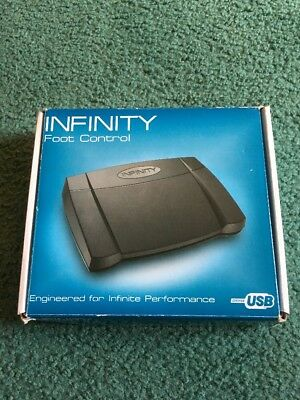 NIB IN-USB-2 Infinity Foot Control Foot Pedal Ships via Priority Mail for FREE