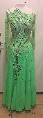 BALLROOM SMOOTH DRESS COMPETITION WITH SWAROVSKI CRYSTALS BY LENIQUE Size 0-12