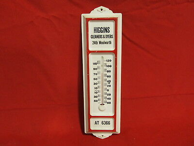 Higgins Cleaners & Dyers Thermometer/Sign