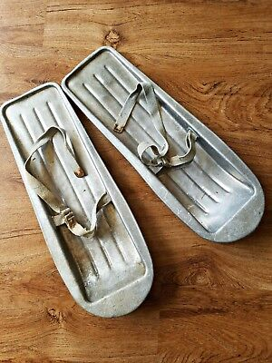 Vintage Sporting Goods Outdoor Snowshoes Aluminum 1940s 1950s Fun Unique Toy
