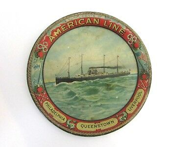 Antique Authentic American Line Ship Tip Tray Philadelphia Liverpool Queenstown