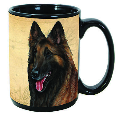 Belgian Tervuren Fawn Faithful Friends Dog Breed 15oz Coffee Mug Cup