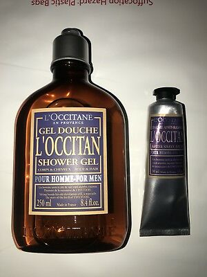 L'Occitane LOCCITANE Mens SHOWER gEL ( Body And Hair) & After Shave Balm NEW