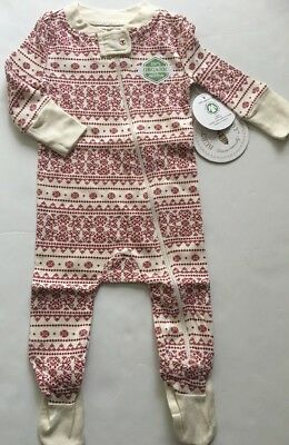 Burts Bees Baby Boy Girl Family Coverall Pajamas Size 3 6 12 18 24 Months Ivory