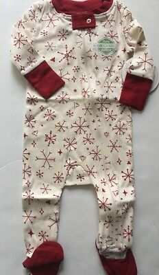 Burts Bees Baby Boy Girl Coverall Pajamas Size 3 6 12 18 24 Months Snowflakes