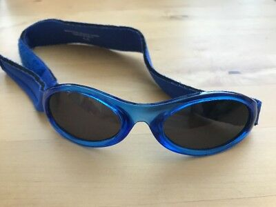 Preloved Guc Baby Banz Velcro Infant Sunglasses blue Boy Or Girl