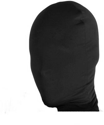 2nd Skin Full Hood Costume Face Mask Adult: Black One Size