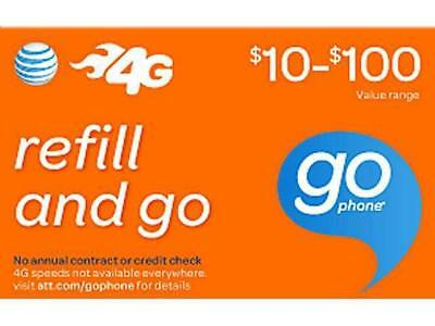 Discount At&t Prepaid Refills Applied In 10 Minutes ($10-$100) See Description