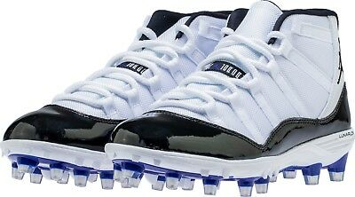 644f3aa86abfd3 Nike Jordan XI 11 Retro TD Football Cleats AO1561-123 Concord Black White  Mens