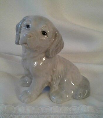 Adorable Porcelain Puppy Figurine John Jenkins