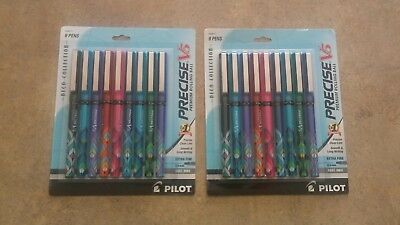 Ball Pens Extra Fine Point 2x9-Pack Pilot Precise V5 Stick Rolling deco collecti