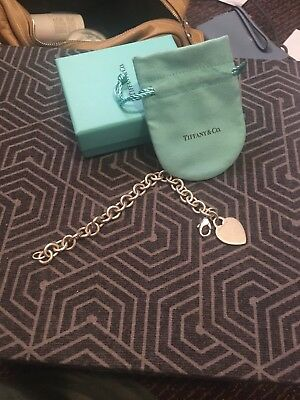 Tiffany and Co. 925 Sterling Silver Heart Tag Bracelet