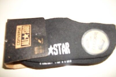 3 Converse All Star Socks Kids Toddler 10C-3Y Youth Black No Show Sock Size 5-7