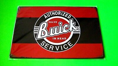 Wall Decor Garage Home Metal Tin SIGN Plaque Poster (AUTHORIZED Buick SERVICE)