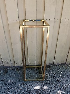 70's Design Institute America Brass Pedestal