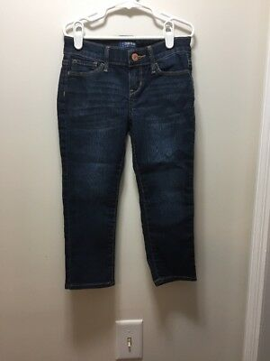 Girls Size 6 Old Navy Skinny Cropped Jeans With Adjustable Waist